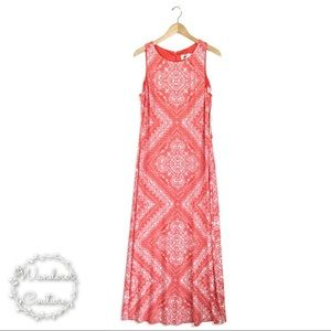 ELIZA J Geo Boho Sleeveless Maxi Dress